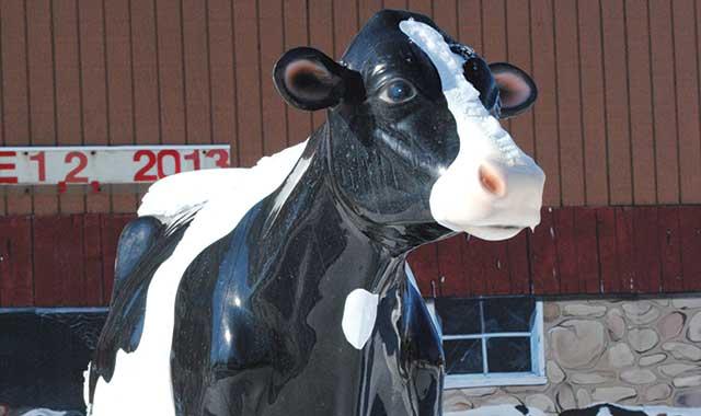 Harmilda, icon of Harvard's annual Milk Days celebration of the town's farming heritage.