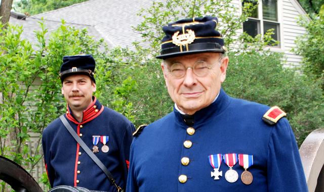 Tom Hauff (right) and son Rob
