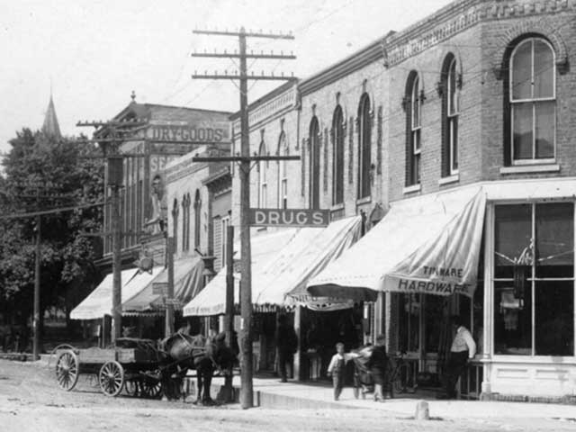 A view down Williams Street in Crystal Lake, pre-1914. (Crystal Lake Historical Society photo)