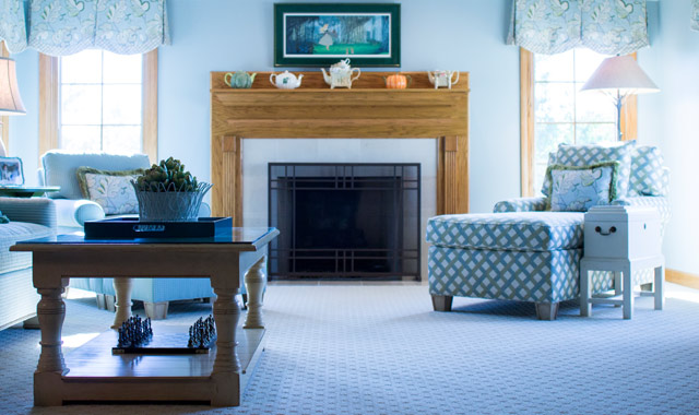 Susanne and Mark Frey's new upstairs family room has been transformed into a relaxing Cape Cod-inspired retreat that's comfortable for these empty nesters and their visiting family members.