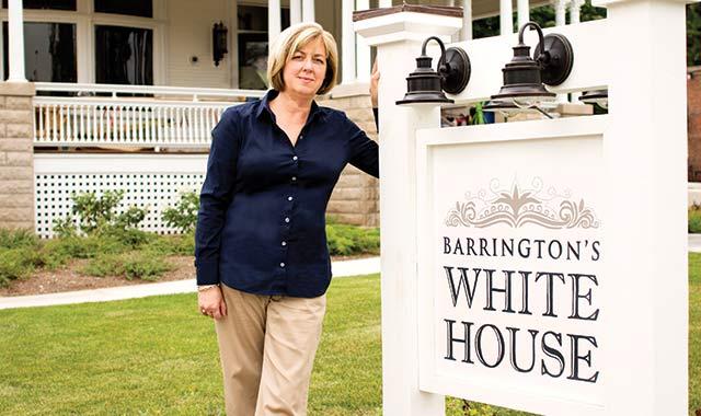 Beth Raseman, project coordinator of Barrington's White House. (Samantha Ryan photo)