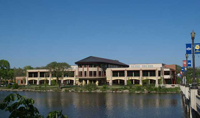 Gail Borden Public Library's main branch, in Elgin, attracts out-of-town visitors of all ages with activities, events and a fantastic view of the Fox River.